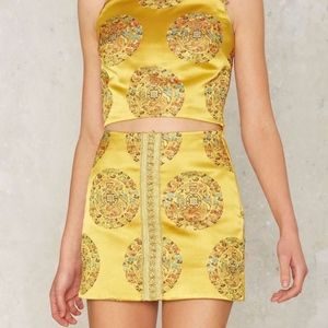 Nasty Gal Collection Forbidden City Jacquard Mini